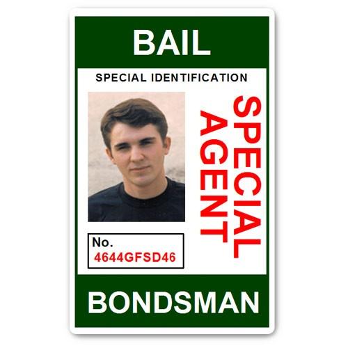 Bail Bondsman Special Agent PVC ID Card in Green