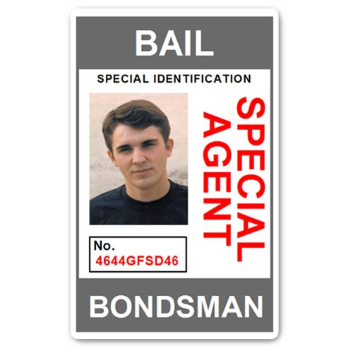 Bail Bondsman Special Agent PVC ID Card in Grey