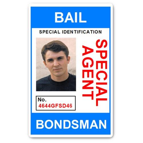 Bail Bondsman Special Agent PVC ID Card in Light Blue