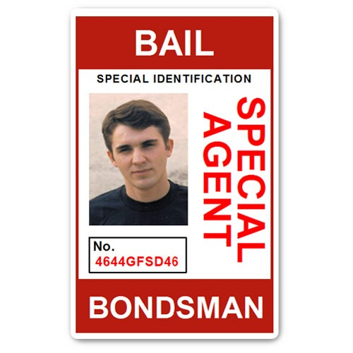 Bail Bondsman Special Agent PVC ID Card in Red
