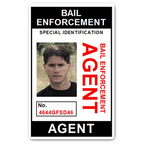 Bail Enforcement Agent No 2. PVC ID Card in Black