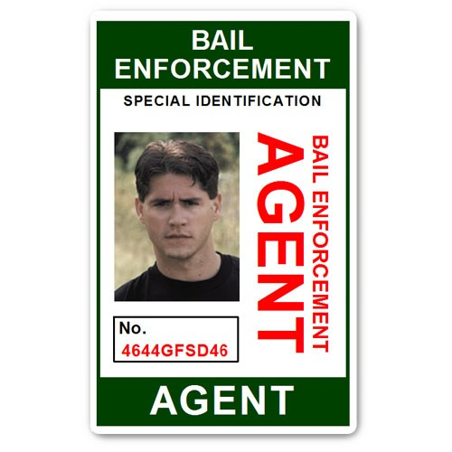 Bail Enforcement Agent No 2. PVC ID Card in Green