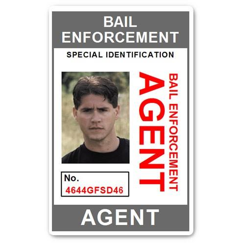 Bail Enforcement Agent No 2. PVC ID Card in Grey