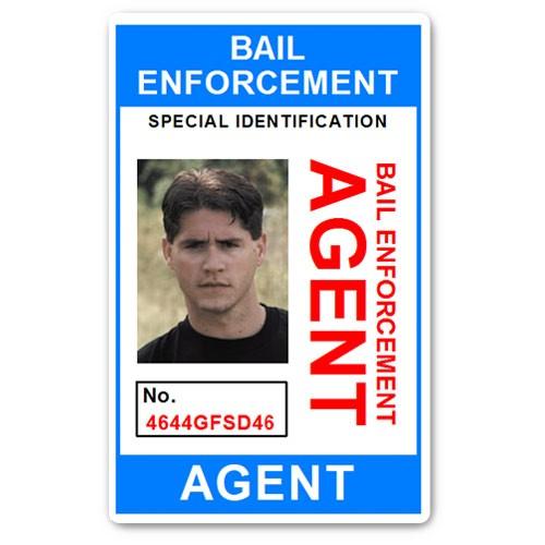 Bail Enforcement Agent No 2. PVC ID Card in Light Blue