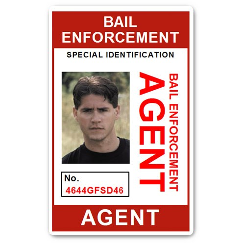 Bail Enforcement Agent No 2. PVC ID Card in Red