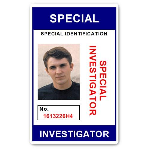 Special Investigator PVC ID Card C207PVC in Blue