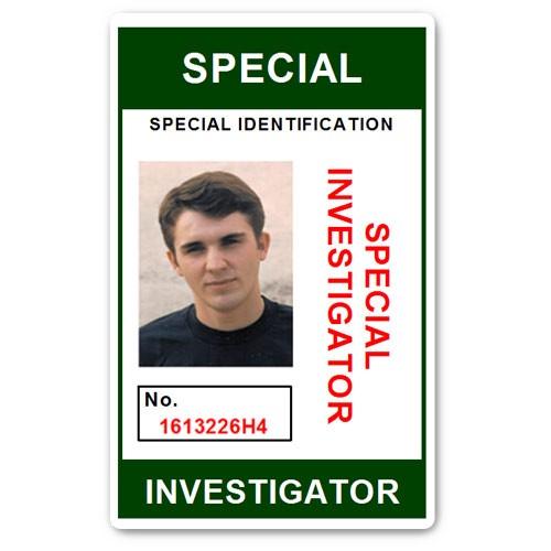Special Investigator PVC ID Card C207PVC in Green