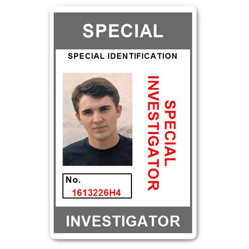 Special Investigator PVC ID Card C207PVC in Grey