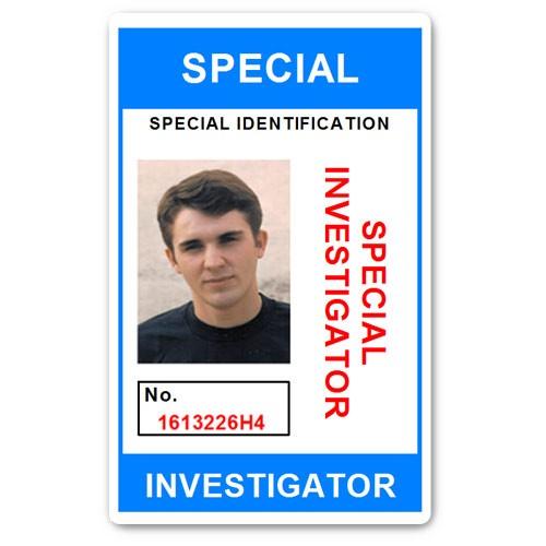 Special Investigator PVC ID Card C207PVC in Light Blue