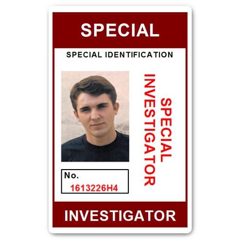 Special Investigator PVC ID Card C207PVC in Maroon