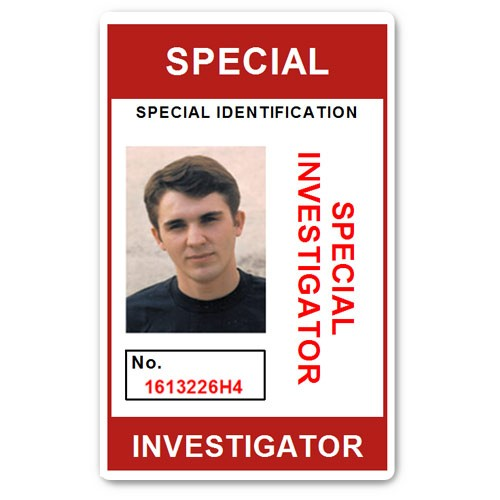 Special Investigator PVC ID Card C207PVC in Red