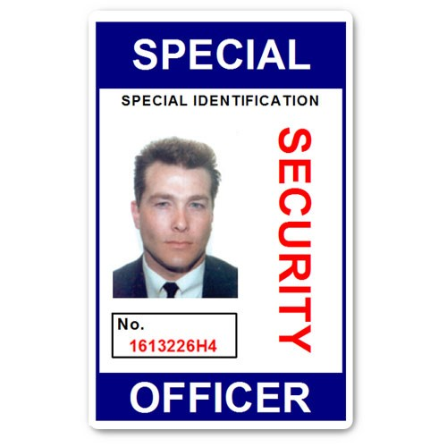Special Security Officer PVC ID Card in Blue