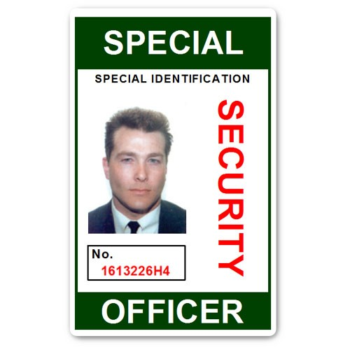 Special Security Officer PVC ID Card in Green