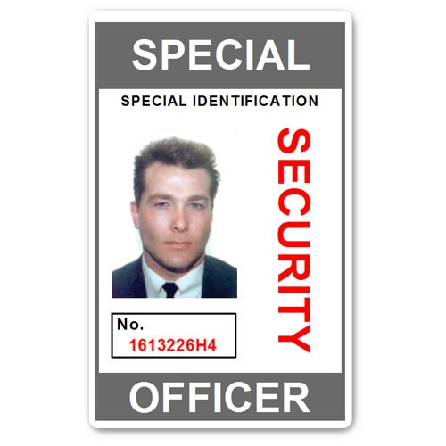 Special Security Officer PVC ID Card in Grey
