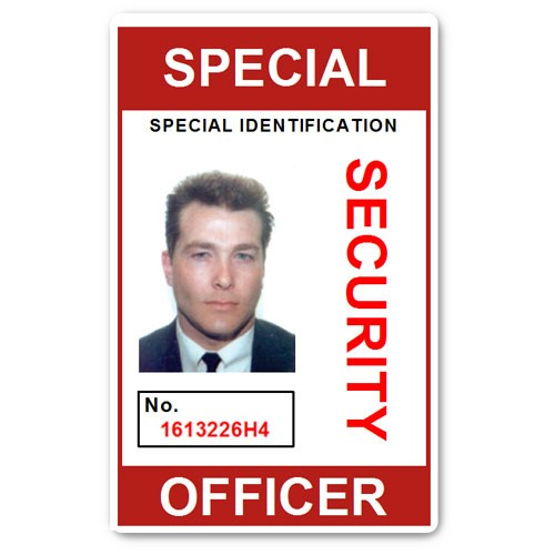Special Security Officer PVC ID Card in Red