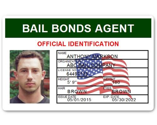 Bail Bonds Agent PVC ID Card in Green