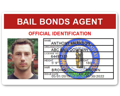Bail Bonds Agent PVC ID Card in Red
