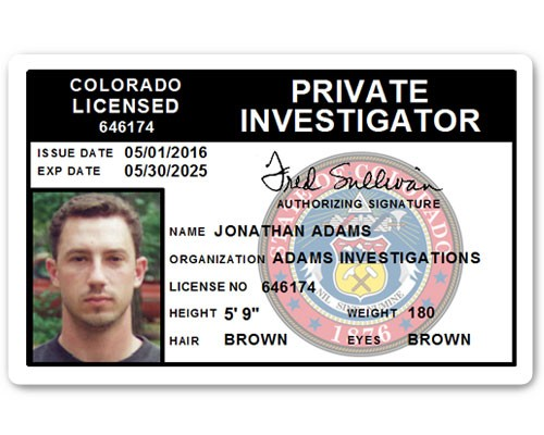 Private Investigator PVC ID Card C503PVC in Black