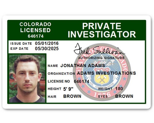 Private Investigator PVC ID Card C503PVC in Green