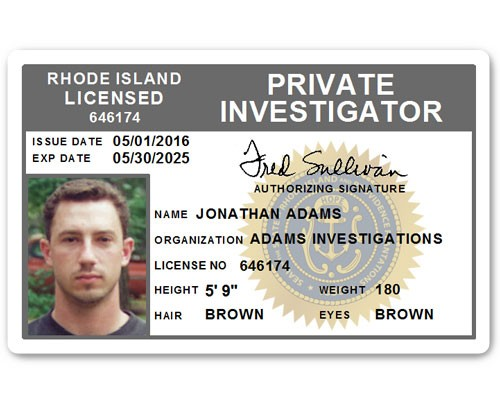 Private Investigator PVC ID Card C503PVC in Grey