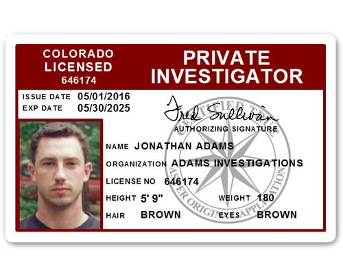 Private Investigator PVC ID Card C503PVC in Maroon