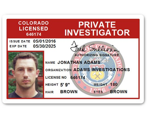 Private Investigator PVC ID Card C503PVC in Red