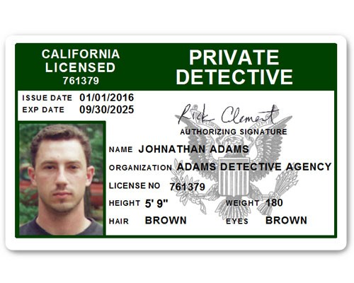 Private Detective PVC ID Card C510PVC in Green