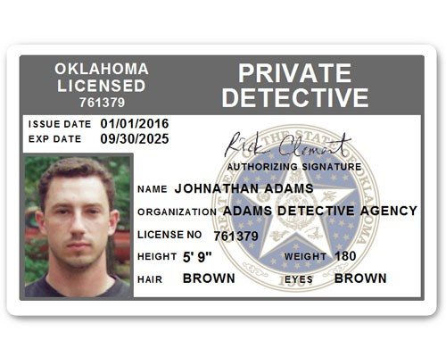 Private Detective PVC ID Card C510PVC in Grey