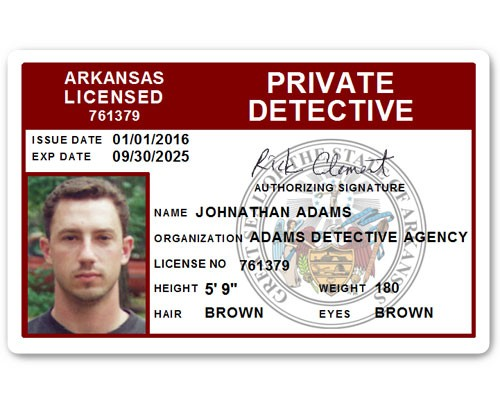 Private Detective PVC ID Card C510PVC in Maroon