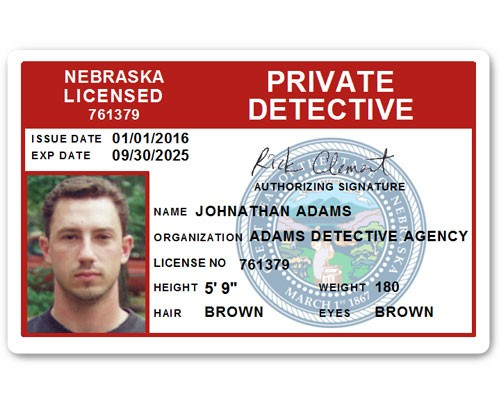 Private Detective PVC ID Card C510PVC in Red