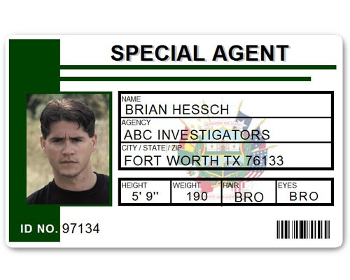 Special Agent PVC ID Card C511PVC in Green