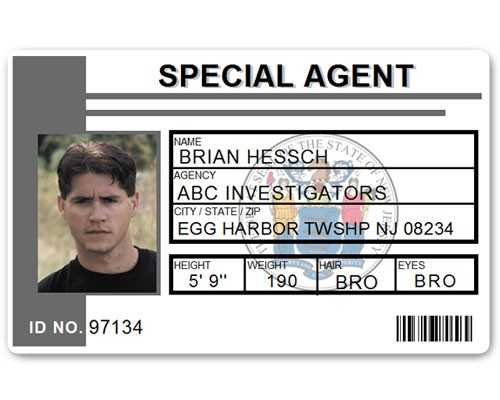 Special Agent PVC ID Card C511PVC in Grey