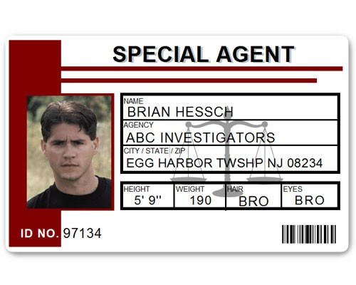 Special Agent PVC ID Card C511PVC in Maroon