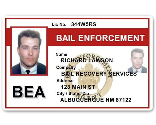 Bail Enforcement PVC ID Card C513PVC in Red