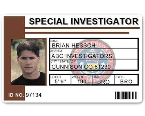 Special Investigator PVC ID Card C514PVC in Brown