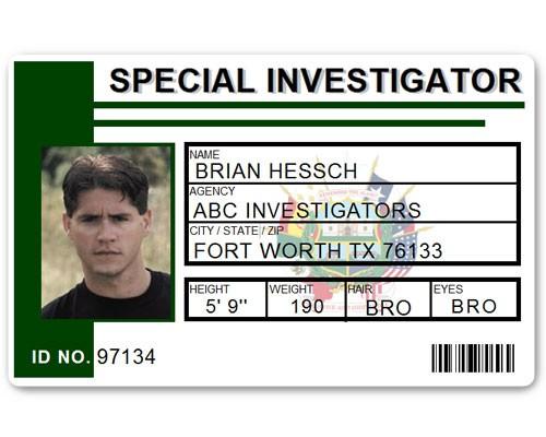 Special Investigator PVC ID Card C514PVC in Green