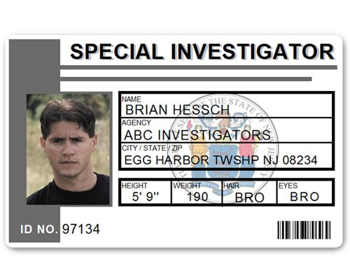 Special Investigator PVC ID Card C514PVC in Grey