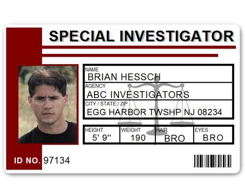Special Investigator PVC ID Card C514PVC in Maroon
