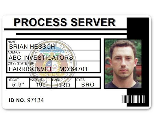 Process Server PVC ID Card C515PVC in Black