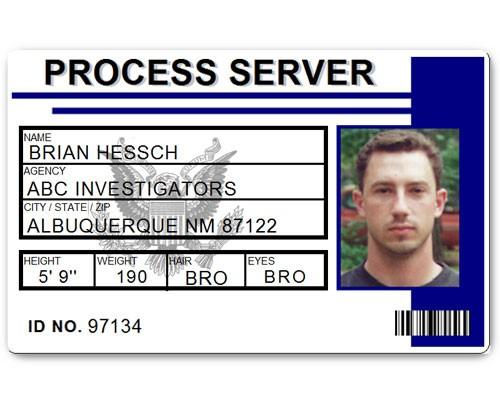 Process Server PVC ID Card C515PVC in Blue