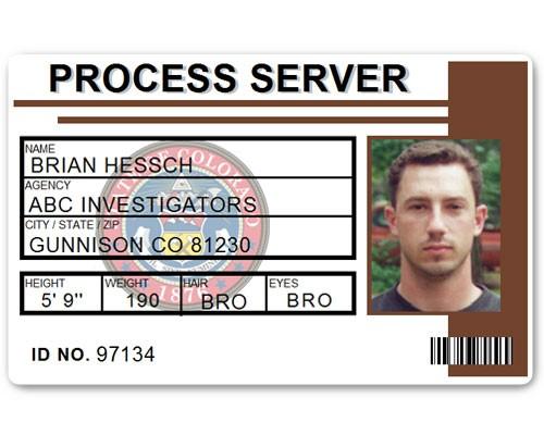 Process Server PVC ID Card C515PVC in Brown
