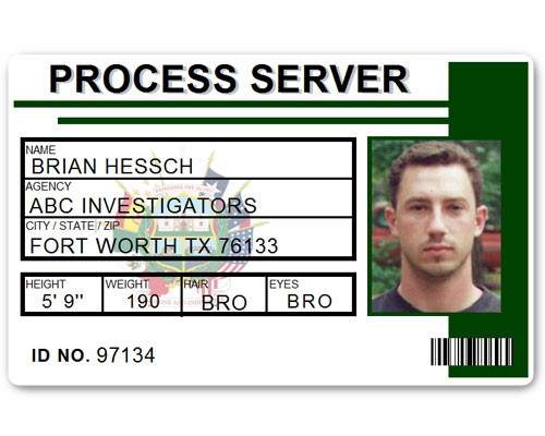 Process Server PVC ID Card C515PVC in Green