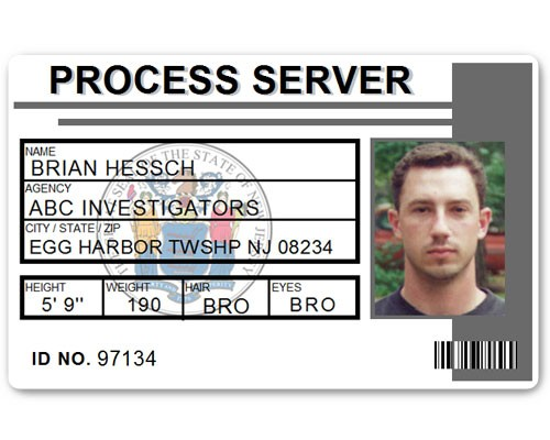 Process Server PVC ID Card C515PVC in Grey