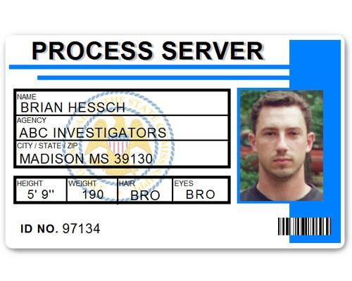 Process Server PVC ID Card C515PVC in Light Blue