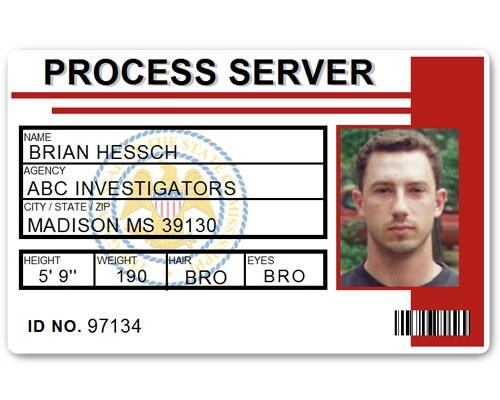 Process Server PVC ID Card C515PVC in Red