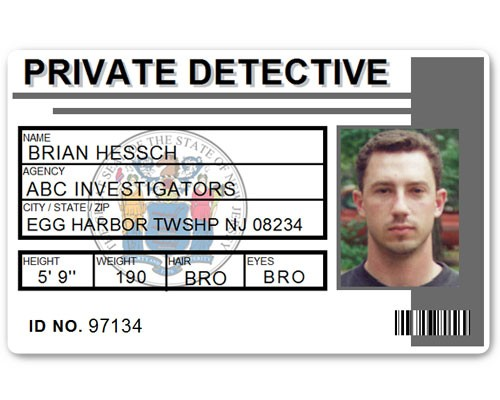 Private Detective PVC ID Card C516PVC in Grey