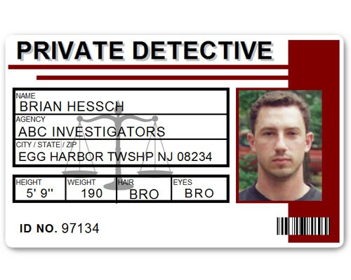 Private Detective PVC ID Card C516PVC in Maroon