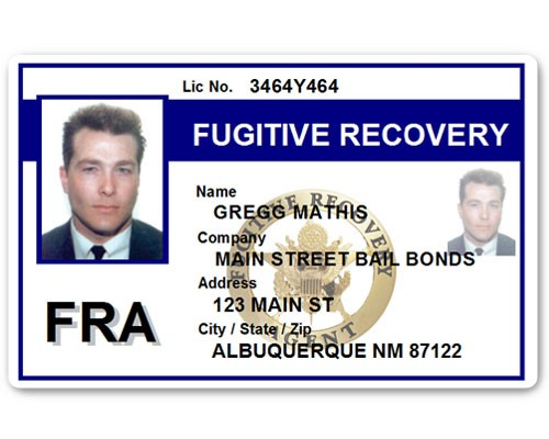 Fugitive Recovery PVC ID Card C518PVC in Blue