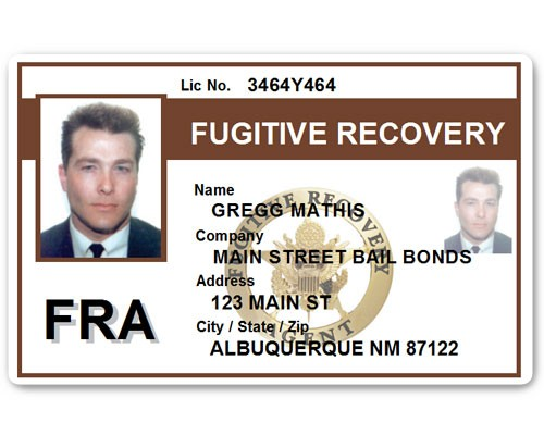 Fugitive Recovery PVC ID Card C518PVC in Brown