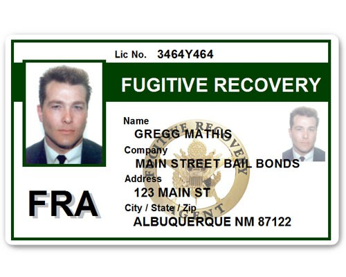 Fugitive Recovery PVC ID Card C518PVC in Green